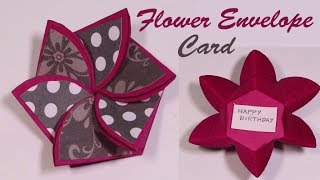 Flower envelop card TUTORIAL- how to-  Scrapbooking cards- explosion box cards