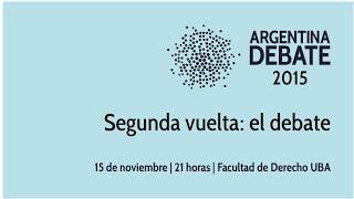 ARGENTINA DEBATE 2015 | Segunda vuelta: el debate
