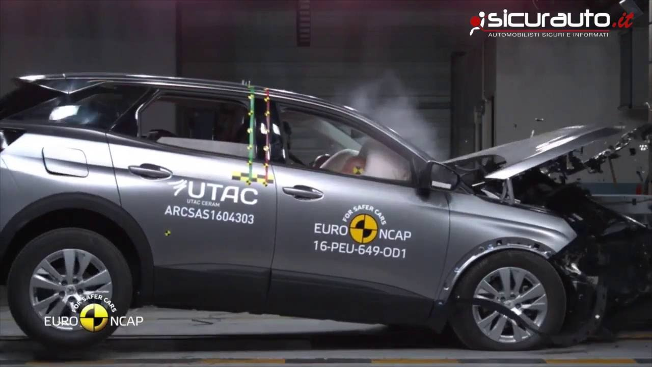 peugeot 3008 2016 crash test euro ncap youtube. Black Bedroom Furniture Sets. Home Design Ideas