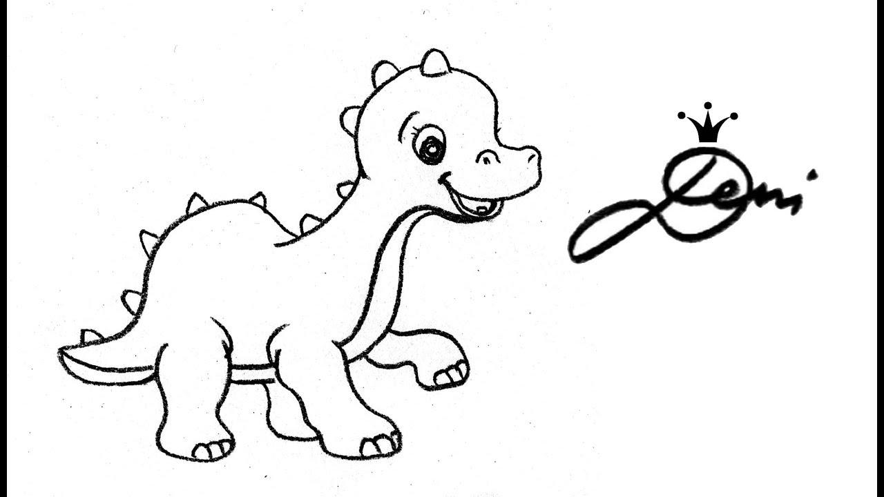 Dino Zeichnen Wie Zeichnet Man Einen Dinosaurier How To Draw A Dinosaur Kак се рисува динозавър