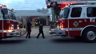 House on fire in Aurora Colorado