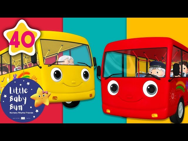 Wheels on The Bus | All Wheels on The Bus Songs + More Nursery Rhymes & Kids Songs | Little Baby Bum