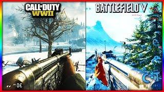 Battlefield 5 vs COD WW2 Gameplay & Graphics
