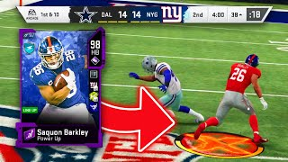 DIAMOND SAQUON BARKLEY IS THE BEST RUNNING BACK IN THE GAME! - Madden 20 Ultimate Team