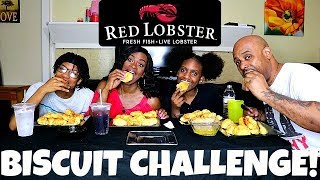 RED LOBSTER BISCUIT CHALLENGE! FAMILY EDITION!