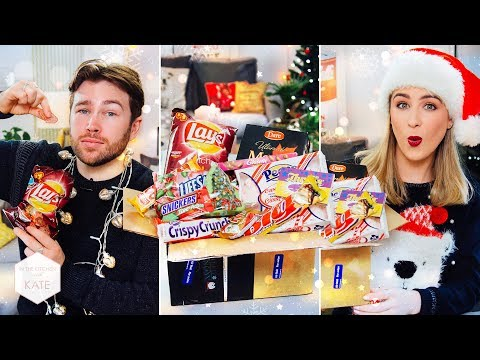 British People Trying Canadian Candy FESTIVE BOX SWAP w JULIE NOLKE - In The Kitchen With Kate