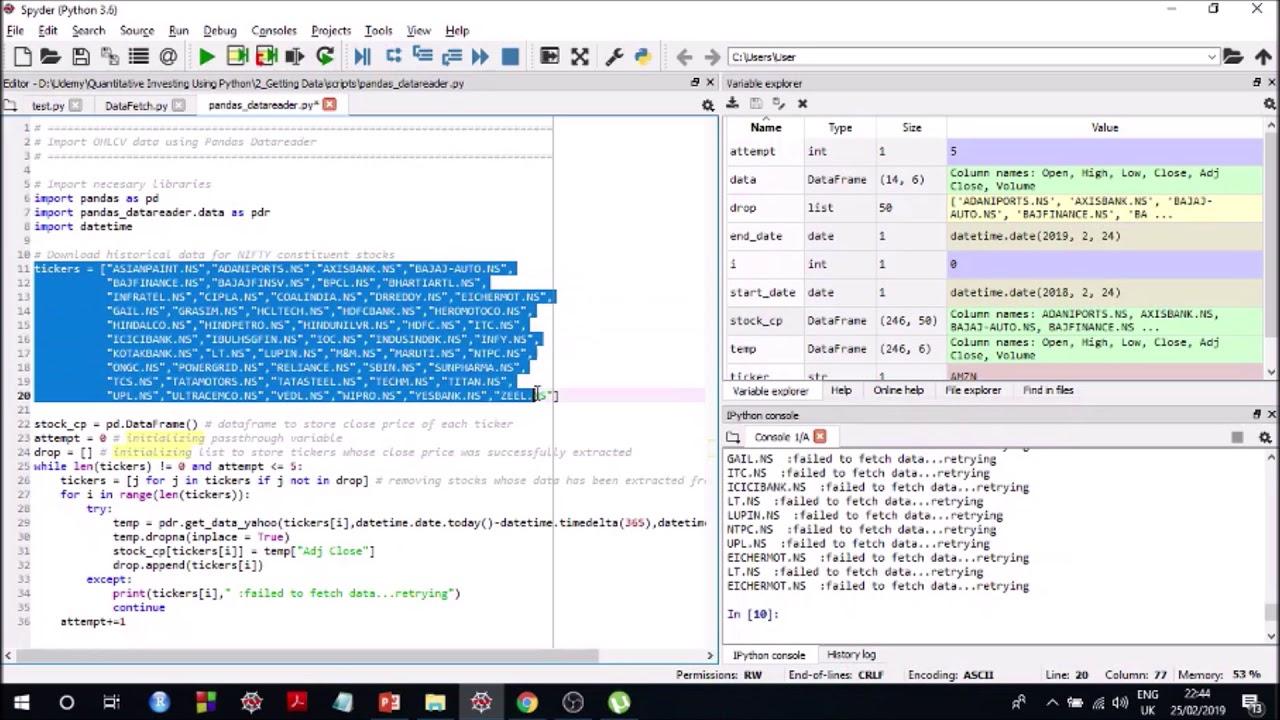 Get Stock Data Python Pandas Datareader