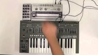 SH-1oh1 & TR-606 Acid Jam (Roland SH-101 mod demo)