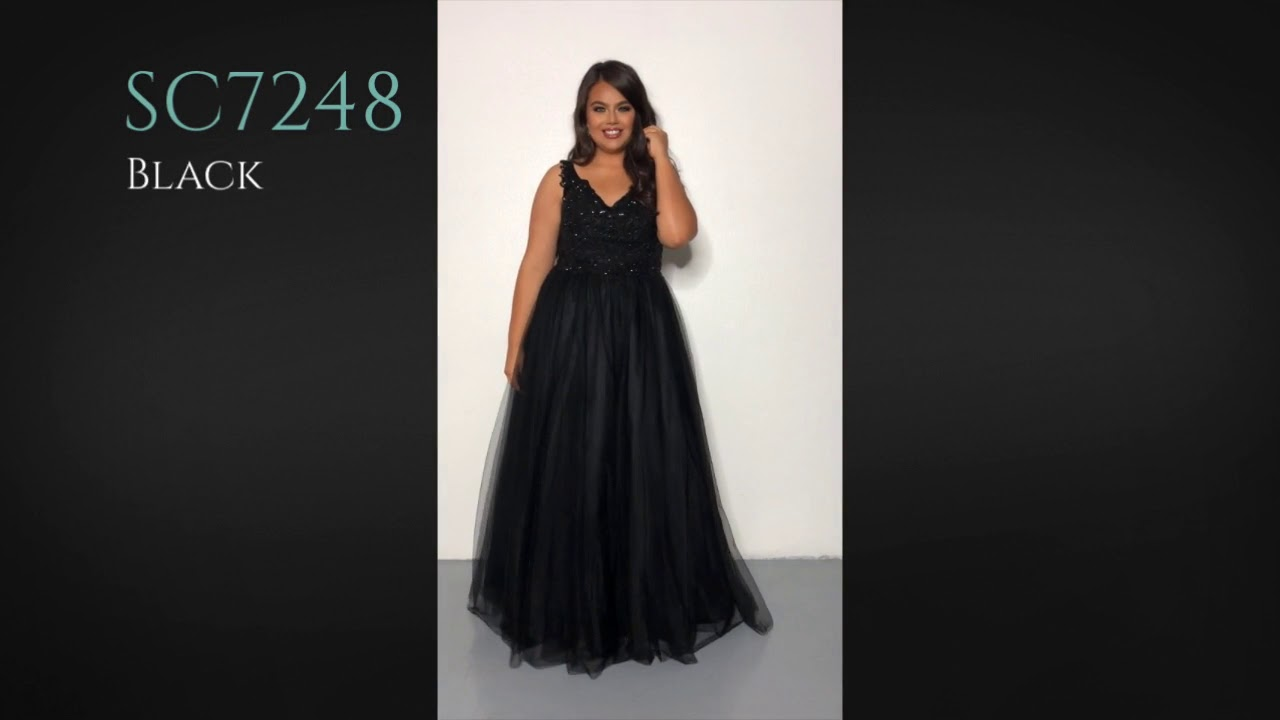 Plus Size Formal Prom Dress SC7248 by Sydney\'s Closet