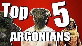 Top 5 Argonians in Skyrim!