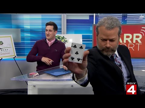Illusionist Anthony Grupido shows off trick on live TV