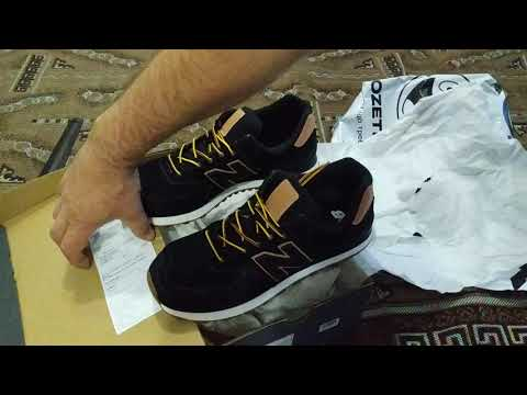 Кроссовки New Balance 574 Luxe ML574XAB 43 (10) 28 см Черные (739980411253)