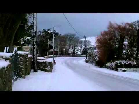 Carna, Co. Galway, Ireland. Snow, 18th December 2010 Ronan.mp4