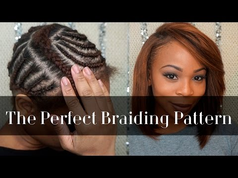 Braiding Pattern for A Side Part - YouTube