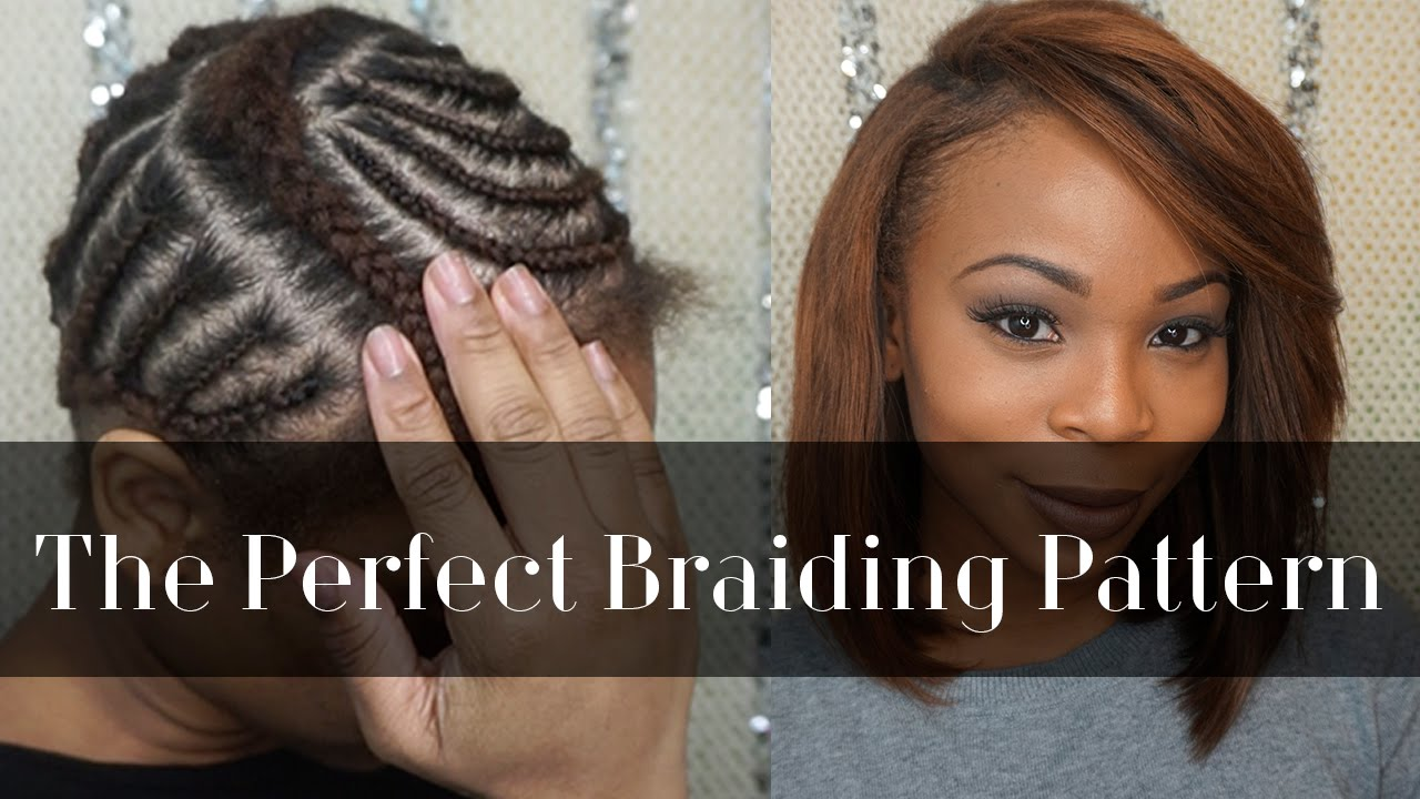 Braiding Pattern For A Side Part Youtube