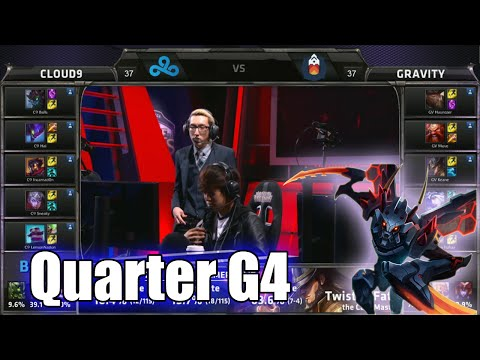 Cloud 9 vs Gravity | Game 4 Quarter Finals S5 NA LCS Regional Qualifier for Worlds | C9 vs GV G4 QF