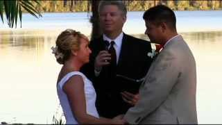 Paradise Cove Wedding with Orlando Wedding Officiant  407-521-8697