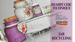 shabby chic glass recycling decoupage tutorial diy jar