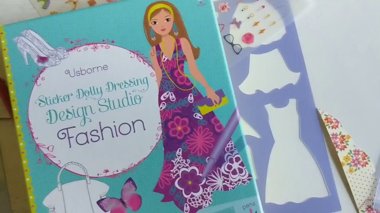 Sticker Dolly Dressing Design Studio Fashion From Usborne Books More Youtube