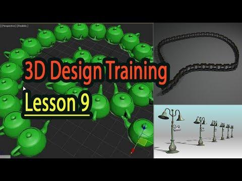 BÀI 9 SPACING TOOL (FULL) CÔNG CỤ Học 3D COPY VẬT THỂ THEO ĐƯỜNG DẪN 3dclass.net MrHoang 0907707728