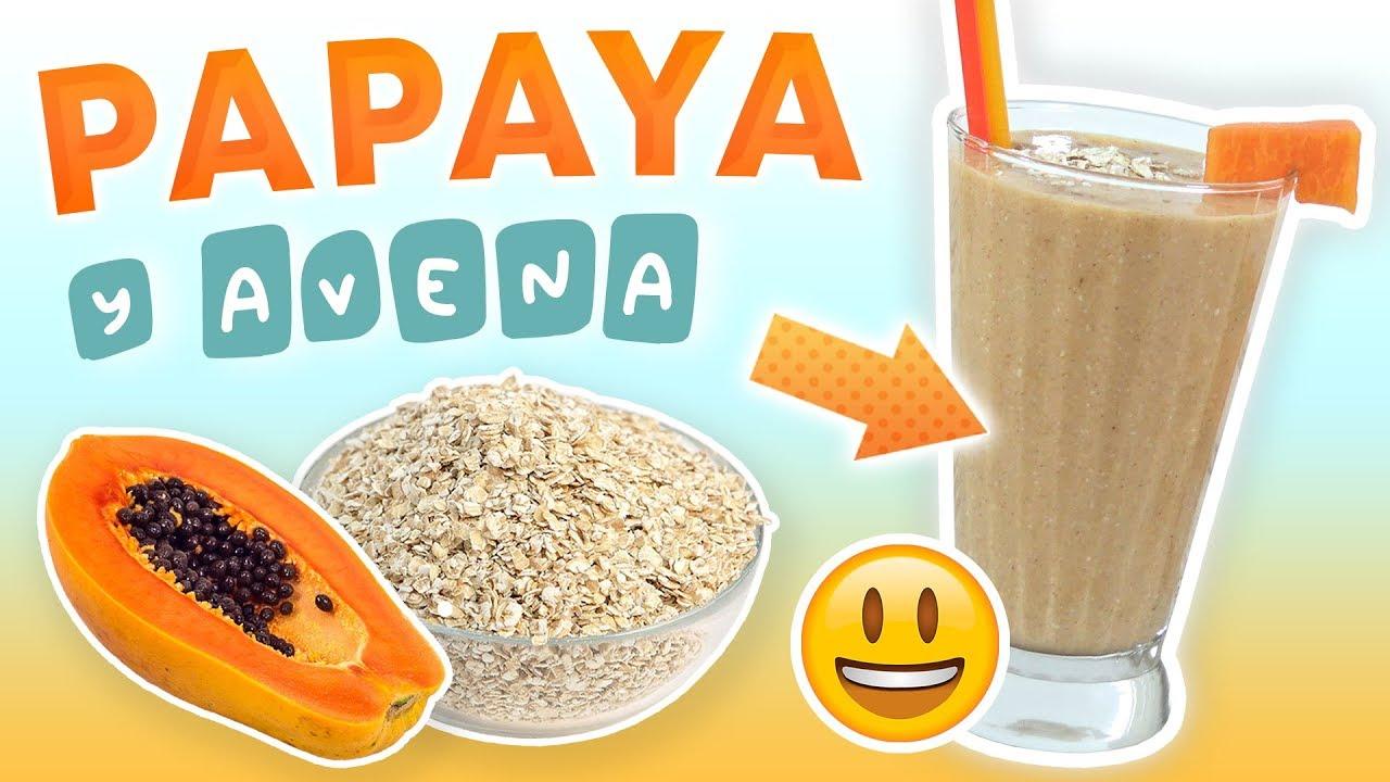 Jugo de papaya con avena para bajar de peso