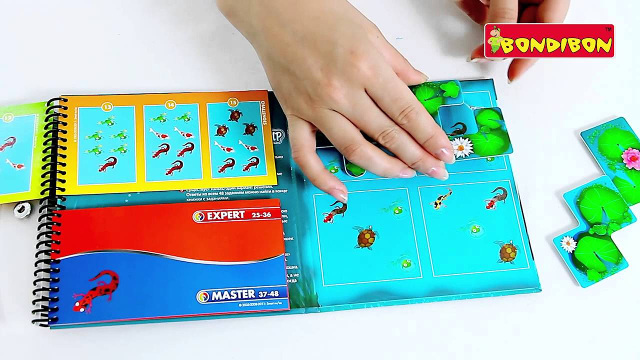 Магнитная игра BONDIBON Smart Games - ПОДВОДНЫЙ МИР