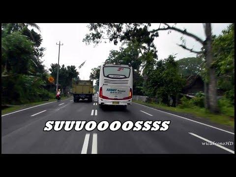 Aksi Bis Pariwisata Suara Knalpot Seperti Jet | Hino RK R260