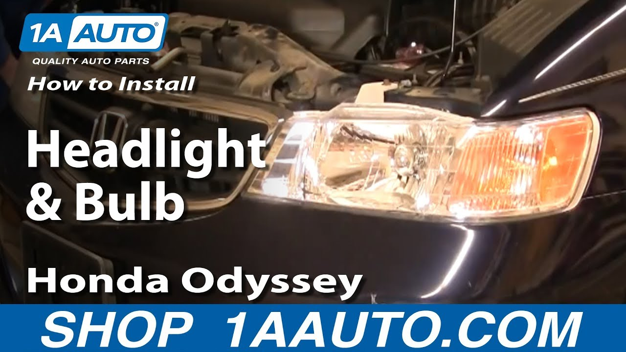 How To Replace Headlight 99 04 Honda Odyssey Youtube