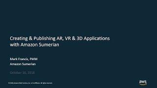 خلق ونشر AR, VR و 3D تطبيقات مع الأمازون السومرية - أوس التكنولوجيا على الإنترنت المحادثات
