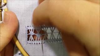 Fan loops - Hand embroidery tutorial