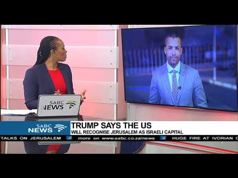Reaction to Trump's announcement on Jerusalem: Sherwin Bryce-Pease