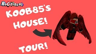 I got to Tour KOOB85'S HOUSE (desenvolvedor RoCitizens) [ROBLOX]