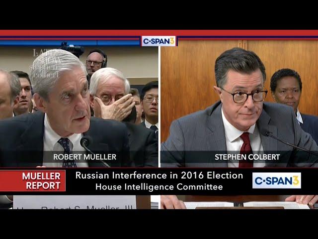 Stephen Colbert Asks A Few Questions At Robert Mueller's Hearing