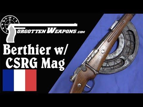 Berthier Carbine with Chauchat Magazine