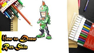 How to Draw Rex Skin | Fortnite| step by step easy
