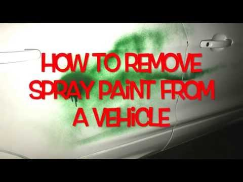 How To Remove Spray Paint From a Vehicle
