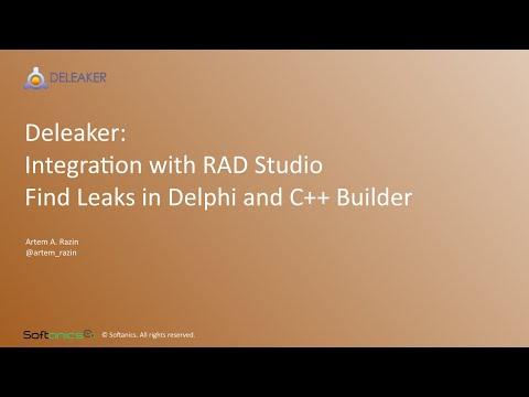 Deleaker integration with RAD Studio. Find Leaks in Delphi and C++ Builder.