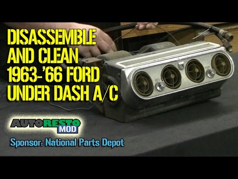Disassembly of Ford Mustang falcon 1964 1965 1966 Under dash air conditioner Episode 262 Autorestomo
