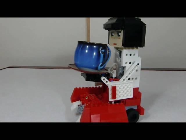 LEGO tea-serving karakuri automata レゴの茶運び人形(からくり人形)