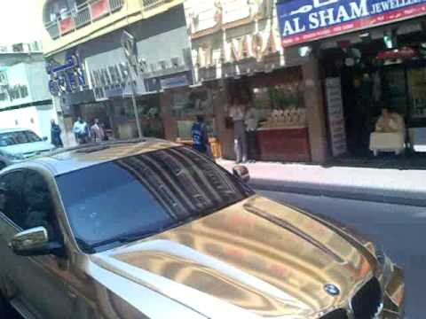 Bmw X6 Gold Plated At Dubai Gold Souq Youtube