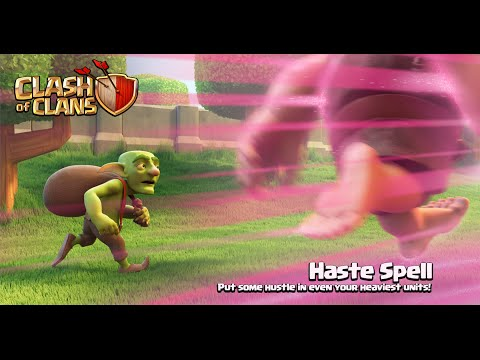 Clash Of Clans - New Update! Dark Spell #3: Haste Spell Gameplay (Sneak Peek)