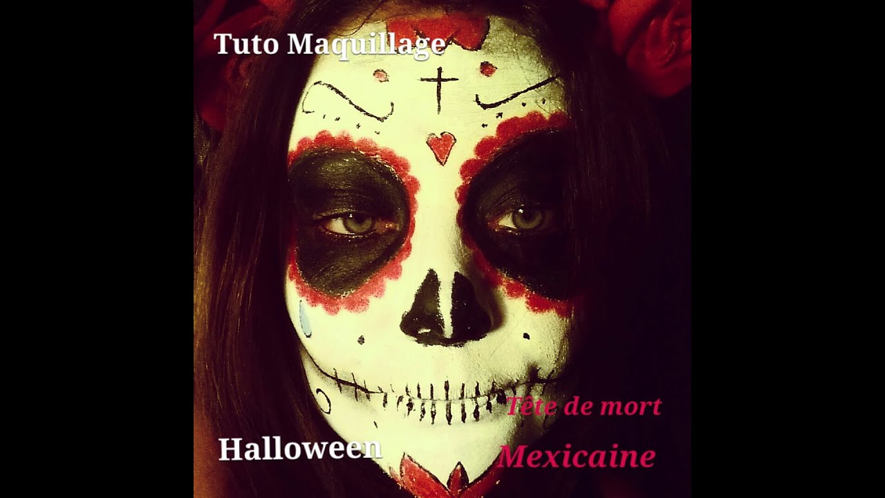 tutoriel maquillage halloween t te de mort mexicaine youtube. Black Bedroom Furniture Sets. Home Design Ideas
