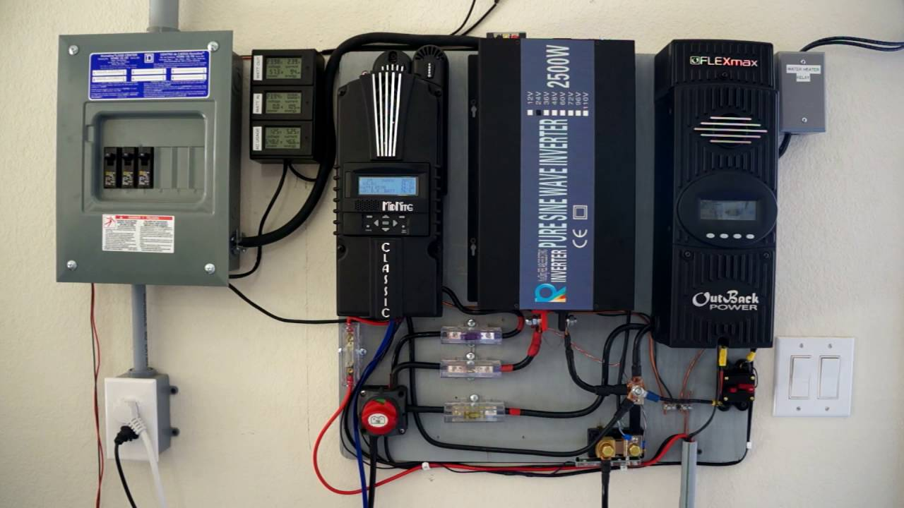 small resolution of 2kw off grid solar overview cooling battery bank electric solar water heater youtube