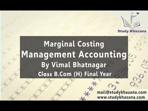 Management Accounting By Vimal Bhatnagar B com Final L1