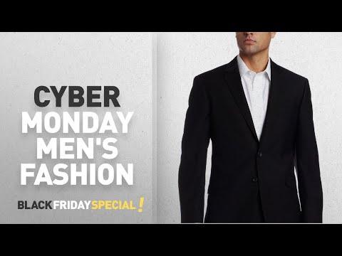 Cyber Monday Men's Suit Separates Deals: Kenneth Cole REACTION Men's Slim fit Black-Solid Suit