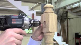 How To Connect Handrail To A Newel Post Using The Slip Fix UT Rail Bolt