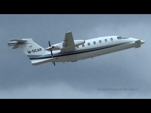 Piaggio P.180 Avanti M-GCAP takeoff @ Hamburg Airport