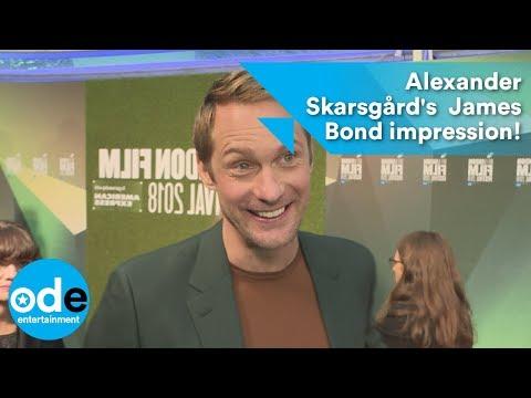 Alexander Skarsgård's awesome Swedish James Bond impression!