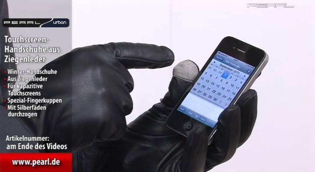 PEARL urban Touchscreen-Handschuhe 8,0 M Gr Ziegenleder für Herren