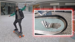Skateboarding Mall * Accident!